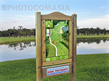 golf course tee signage With an advertising